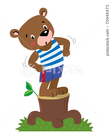 Funny strong little bear 70046973
