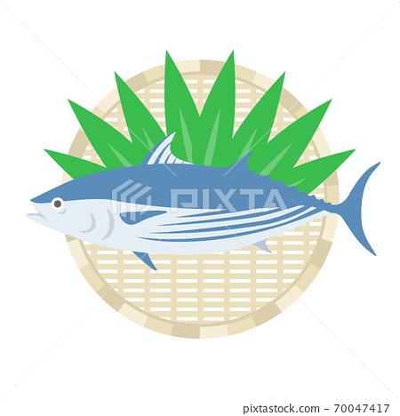 bon魚在漏勺上的插圖 70047417