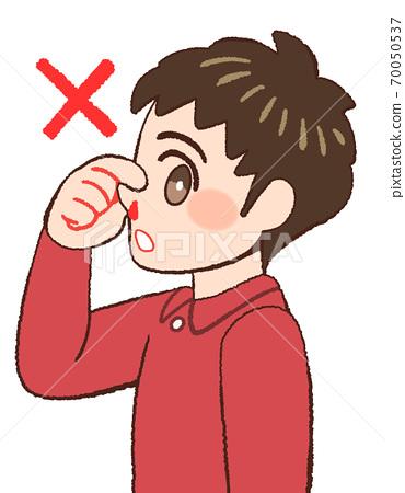 코피 때의 잘못된 대응을 해 보이는 소년의 그림 70050537