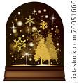 雪穹頂_聖誕樹和雪舞_棕褐色 70051660