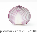 Cross section of red onion. Close-up shooting. 70052188
