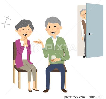 偷看高級夫婦聊天一個老頭 70053659