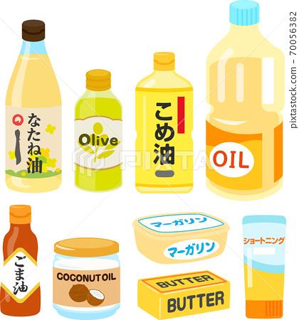 Illustration set of household cooking oil 70056382