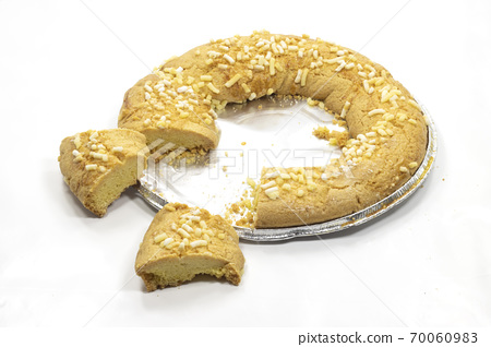 sweet bisulan donut with hole and sugar 70060983