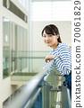Female student, university student, campus life 70061829