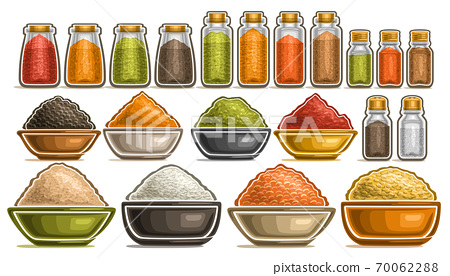 Vector Set of different Spices 70062288