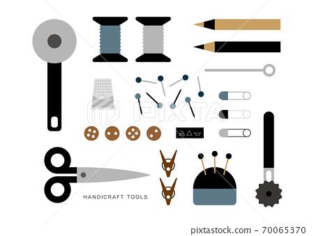 深色設計的縫製物品的插圖 70065370