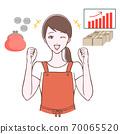 膽量的插圖構成女人和資產 70065520
