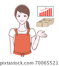 一個女人在引導姿勢和資產的插圖 70065521