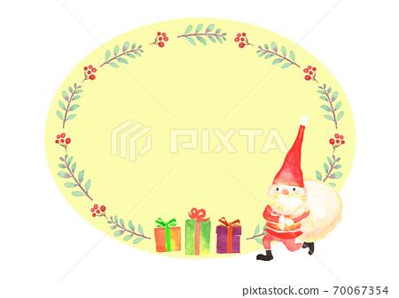 聖誕幀畫水彩 70067354