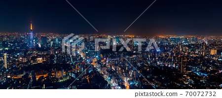 Tokyo cityscape aerial view 70072732