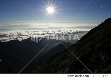 從富士山俯瞰雲海 70080472