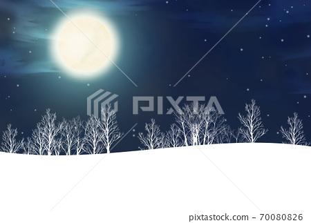보름달과 숲의 풍경화 70080826