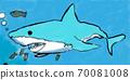 水族館鯊魚(小學生畫的風) 70081008