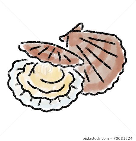 扇貝扇貝水彩手繪材料 70081524