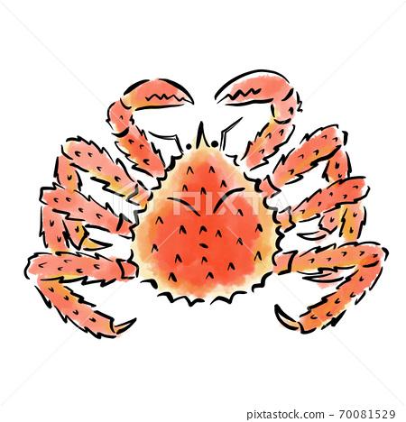 塔拉巴蟹水彩筆手繪素材 70081529