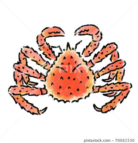 塔拉巴蟹水彩手繪材料 70081530