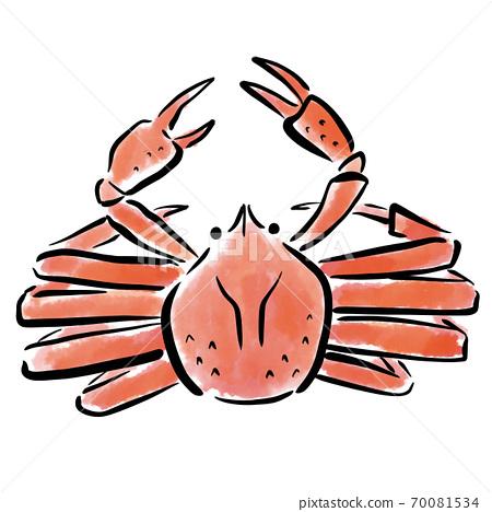 葵蟹水彩筆手繪素材 70081534