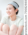 年輕漂亮的東方年輕女性居家生活日常 70082660