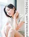 年輕漂亮的東方年輕女性居家生活日常 70082661