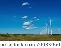 一群有序聳立的風車(北海道Horonobe町) 70083060