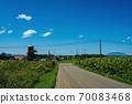 鐵路道口,筒倉和利iri富士(北海道富町) 70083468