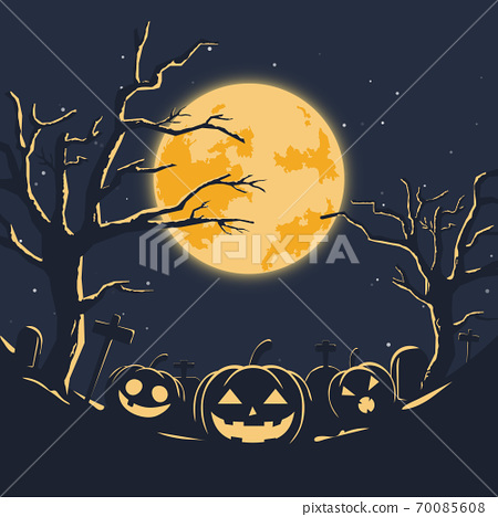 Happy halloween party banner background. Festival celebration poster layout 70085608