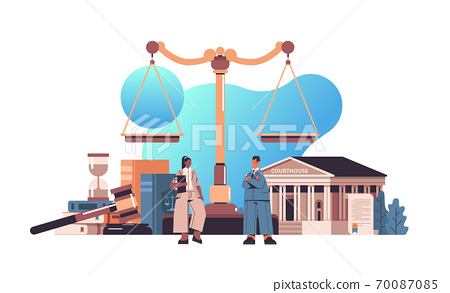 mix race lawyers discussing during meeting legal law advice justice concept 70087085