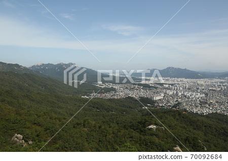북한산.국립공원.서울시가.도시 70092684