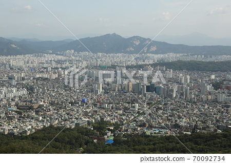 북한산.국립공원.서울시가.도시 70092734