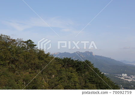 북한산.국립공원.서울시가.도시 70092759