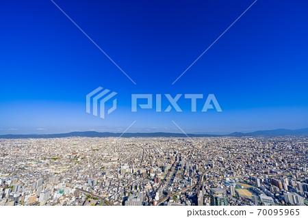 오사카 도시 경관 아베노바시 터미널 빌딩에서 동쪽 방향 70095965