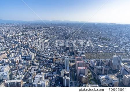 오사카 도시 경관 아베노바시 터미널 빌딩에서 남쪽 방향 70096064