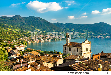 Church of Saints Rocco and Nepomuceno in Marone at Lake Iseo in Italy 70096271