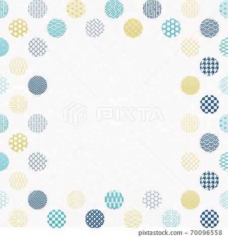 일본식 디자인 배경 소재 - 물방울 - 마루 - 패턴 - 섬유 70096558