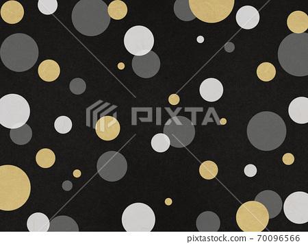 금과 검은 색과 흰색 물방울 무늬 배경 자료 70096566