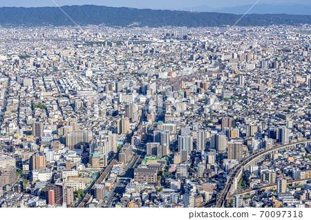 오사카 도시 경관 아베노바시 터미널 빌딩에서 동쪽 방향 70097318