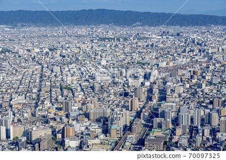 오사카 도시 경관 아베노바시 터미널 빌딩에서 동쪽 방향 70097325