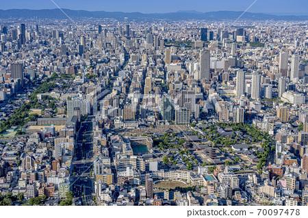 오사카 도시 경관 아베노바시 터미널 빌딩에서 북쪽 방향 70097478