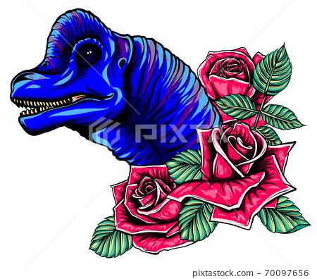 dinosaurus brachiosaurus head art vector illustration design 70097656
