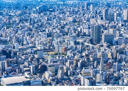 오사카 도시 경관 나니와 구 중앙 구 방면 70097767