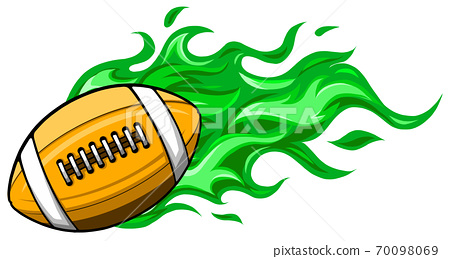 super fast rugby ball that has a red color. 70098069