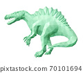 Green low poly art with stylized spinosaurus 70101694