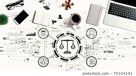 Legal advice service concept with a laptop computer 70104292