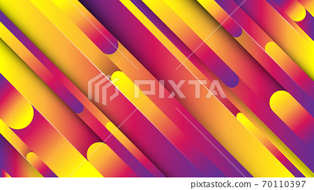 Creative minimal geometric with dynamic shapes abstract colorful vibrant color background wallpaper. Trendy Eps10 vector. 70110397