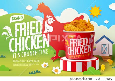 Fried chicken ad 70111485