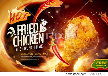 Fried chicken ad 70111486