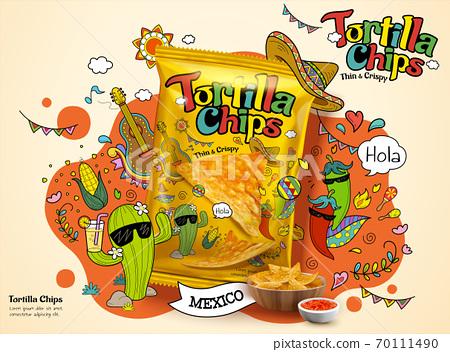 Tortilla chip ad 70111490