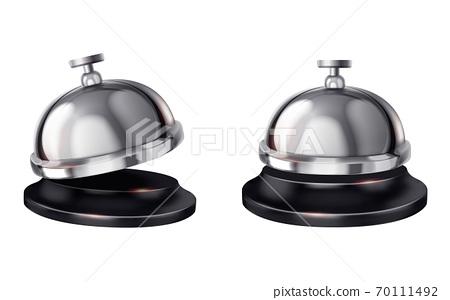 Service bell in 3d illustration 70111492