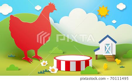 Farm theme display podium 70111495